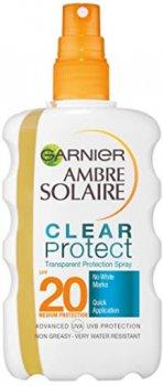 Сонцезахисний спрей Garnier Ambre Solaire Чистий захист SPF 20 200 мл (3600540282828)