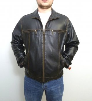 Чоловіча куртка Eleganza з натуральної шкіри модель JEANS