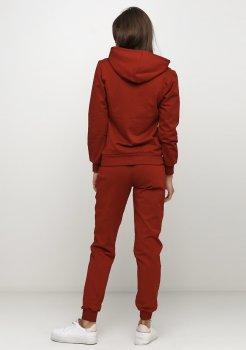 Спортивный костюм женский Solo худи+штаны Бордовый