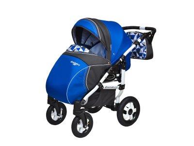 Дитяча коляска 2 в 1 Angelina Discovery Domingo синя 043