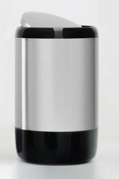 Відро для сміття з поворотною кришкою 30 л, колір чорний 1306 PRIMA NOVA