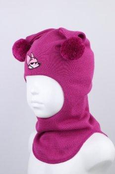 Шапка-шлем детский для девочки Beezy весна - осень 1716-03-20 модель Лиса р. 1 (47-49 см)