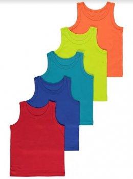 Майка (5 штук) для мальчика George Р0037 Разноцветные (P-6910806230163)