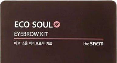 Тіні для брів The Saem Eco Soul Eyebrow Kit 01 Natural Brown 5 г (8806164117484)