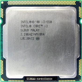 Б/У, Процесор, Intel Core i3-550, LGA1156, 4х3.20GHz, 4 потоку, 4 МБ, 1333 Mhz, s1156