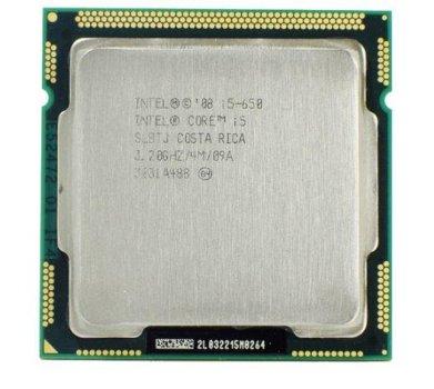 Б/У, Процесор, Intel Core i5-650, 2 ядра, 4 потоку, до 3.33 GHz, s1156