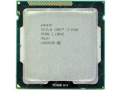Б/У, Процесор, Intel Core i5-2400, 6 MB , 4 ядра по 3,10-3,40 GHz, s1155