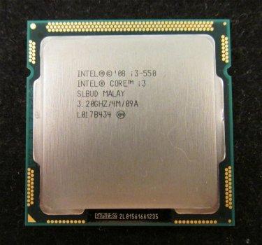 Б/У, Процесор, Intel® Core™ i3-550, 4 МБ, 2 ядра, 4 потоку 3,20 Ггц