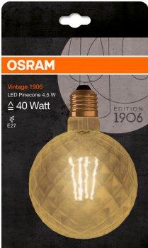 Світлодіодна лампа Osram 1906 FILAMENT GOLD куля 4.5 W (470 Lm) 2500 K E27 (4058075092037)