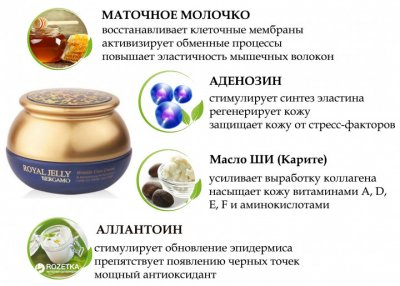 Омолаживающий крем для лица Bergamo Royal Jelly Wrinkle Care Cream с маточным молочком 50 г (8809180018230)