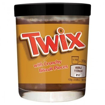 Шоколадная паста Twix 200 g with Crunchy Biscuit Pieces