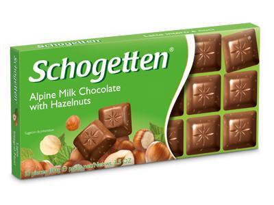 Шоколад Schogetten Alpine Milk with Hazelnuts 100 g