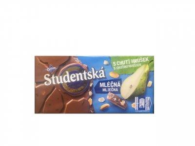 Шоколадка Studentska з грушею та арахісом 180 g
