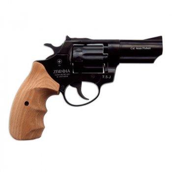 Револьвер под патрон Флобера Zbroia PROFI 3 (чёрный / бук)