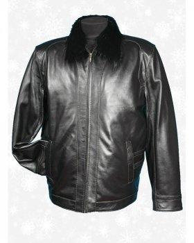 Куртка чоловіча шкіряна Verona 22_3 Чорний