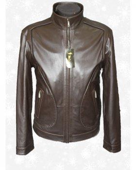 Куртка чоловіча шкіряна Verona 124 Коричневий