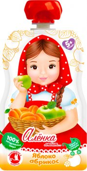Упаковка пюре Аленка Любит Яблуко-Абрикос 90 г x 12 шт. (14813163004180)