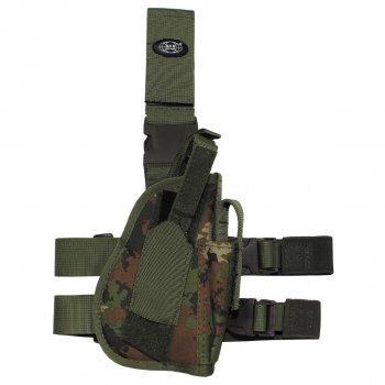 Кобура для пистолета набедренная регулируемая правосторонняя MFH vegetato (30725L)