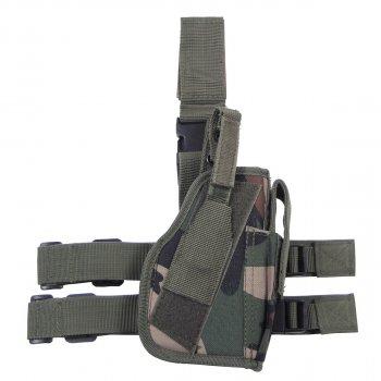 Кобура для пистолета набедренная регулируемая правосторонняя MFH лесной камуфляж (30725T)