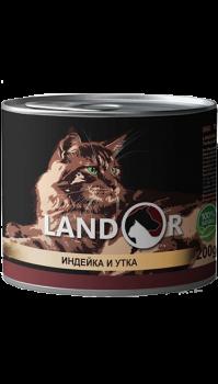Вологий корм Landor (Ландор) для кошенят з індичкою та качкою