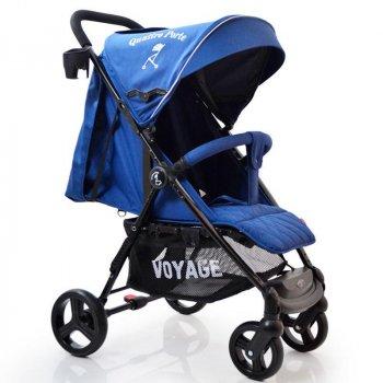 Детская прогулочная коляска книжка Voyage Quattro Porte QP-234 Blue