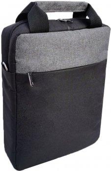 "Сумка для ноутбука вертикальна Kodor Small Oxford 600D 13.3"" Grey/Black (Н0012)"