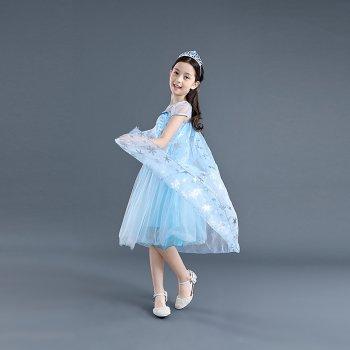 Новогодний костюм Modnyavo Эльзы Frozen 110 см Голубой 2804-7791