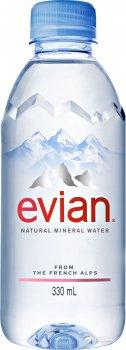Упаковка минеральной негазированной воды Evian 0.33 л х 24 бутылки (3068320063010)