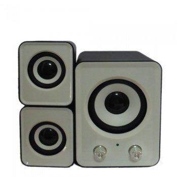 Комп'ютерні колонки акустика 2.1 FT-202 з сабвуфером Чорно - білі (45940)