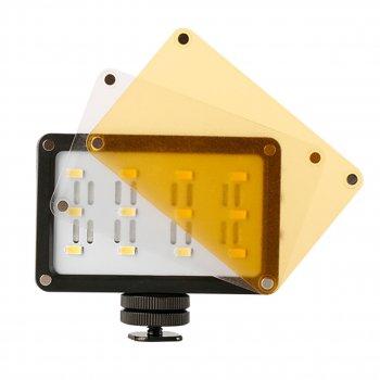 Накамерный свет Ulanzi Cardlite 12 светодиодов + два светофильтра для смартфонов экшн камер