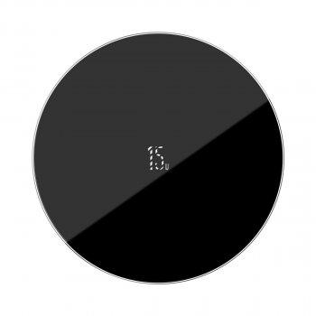 Бездротове зарядний пристрій Baseus Simple NEW Wireless Charger з технологією Qi 15W Чорний
