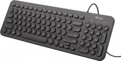 Клавіатура дротова Trust Muto Silent USB UKR (TR23408)