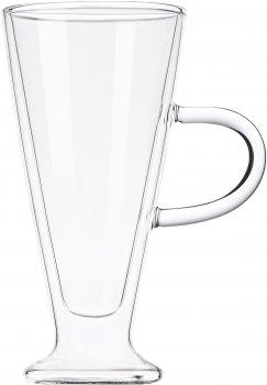 Набор чашек с ручками Ardesto с двойными стенками для латте 230 мл х 2 шт (AR2623GH)
