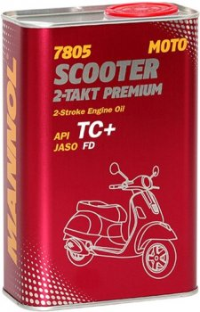 Моторна олива Mannol 7805 Scooter 2-Takt Premium TC+ 1 л Metal (7805metal)