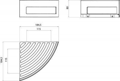 Мыльница-решетка EMCO System 2 3545 001 21