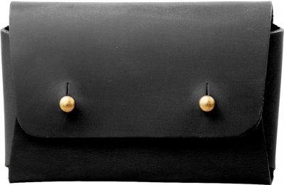 Мужская визитница кожаная DNK Leather DNK-Cards-vint-colJ Черная (2900000087996)