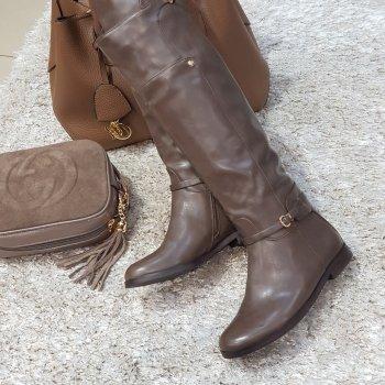 Сапоги женские коричневые, Vallenssia, K1011-18N-47к