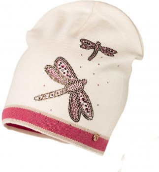 Демисезонная шапка Jamiks SOFIA-1 54 см Розовая (5903024115826)