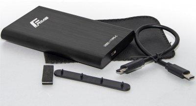 """Зовнішня кишеня Frime для HDD/SSD 2.5"""" SATA USB TYPE-C 3.1 Black (FHE40.25U31)"""