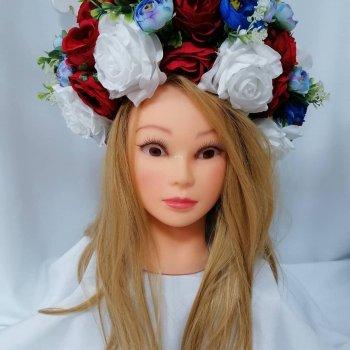 Венок на голову Волинські візерунки в классической цветовой гамме