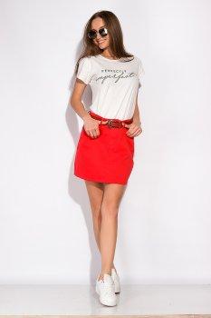 Стильна джинсова спідниця Time of Style 148P201 Червоний