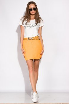 Стильна джинсова спідниця Time of Style 148P201 Яскраво-жовтий