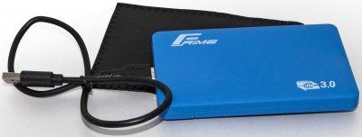 "Внешний карман Frime для 2.5"" SATA HDD/SSD Soft touch USB 3.0 Blue (FHE31.25U30)"