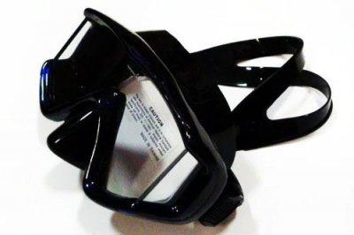 Маска BS DIVER 3-VIZION чёрный силикон, трёхстёкольная