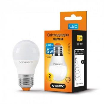 Лампа світлодіодна LED VIDEX G45еD 6W E274100K 220V(VL-G45eD-06274)