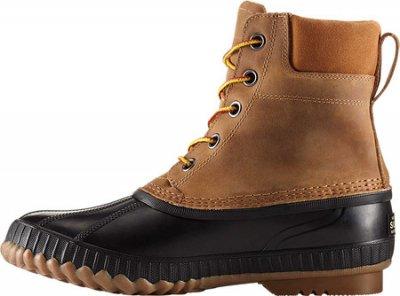 Мужские сапоги Sorel Cheyanne II Lace Snow Boot Chipmunk/Black Full Grain Leather (128354)