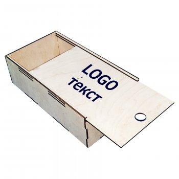 Коробка з фанери ecoToy з гравіюванням 34х18х10 см (111067)