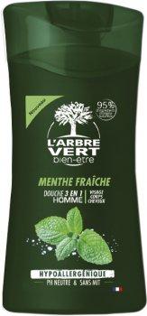 Крем-гель для душа L'Arbre Vert для мужчин с экстрактом свежей мяты 250 мл (3450601032233)