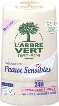 Дезодорант L'Arbre Vert Sensitive для чувствительной кожи 50 мл (3450601032431)