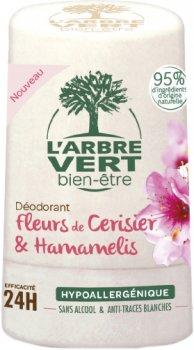 Дезодорант L'Arbre Vert с экстрактами цветов вишни и гамамелиса 50 мл (3450601032394)